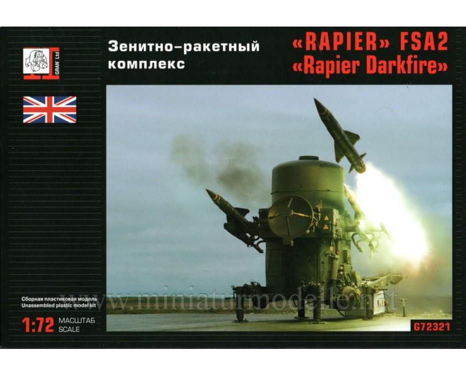 1:72 Rapier Darkfire FSA2 anti aircraft missile system, kit, G72321, Gran Ltd by www.miniaturmodelle.net