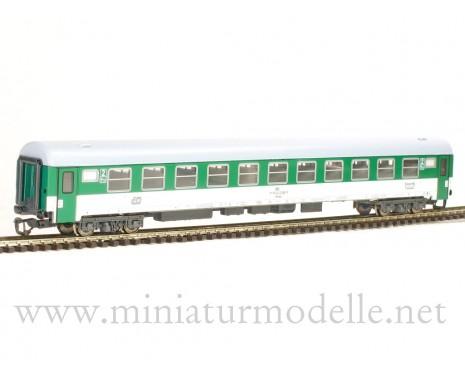 1:120 TT 7683 Abteilwagen 2. Kl. grün/weiß CD 5. Epoche