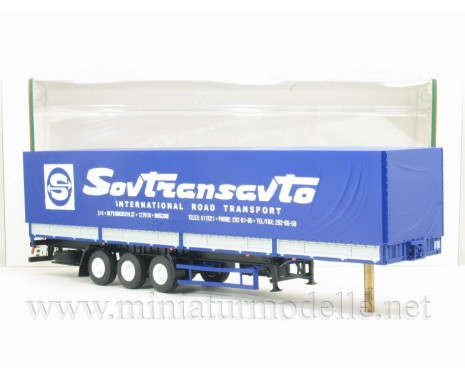 1:43 MAZ 9758 3-axle Sovtransavto canvas semi-trailer