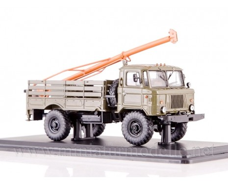 1:43 GAZ 66 Drill machine BM-302, military