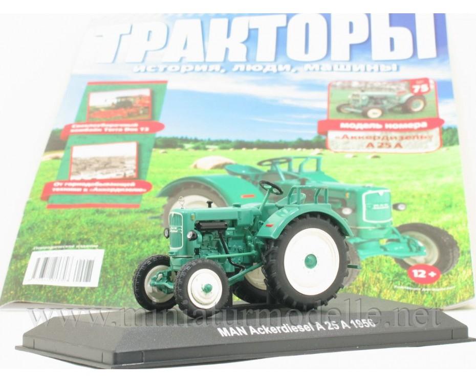 1:43 MAN Ackerdiesel A 25 A Traktor mit Zeitschrift #75