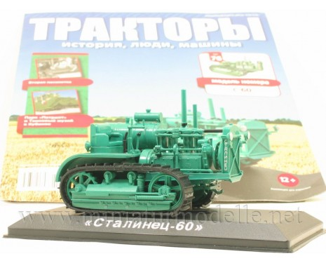 1:43 Stalinets S 60 crawler tractor with magazine #76