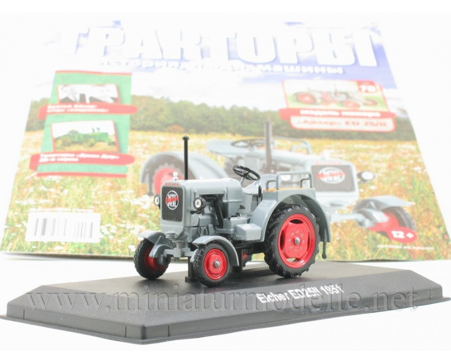1:43 Eicher ED 25 II tractor with magazine #78