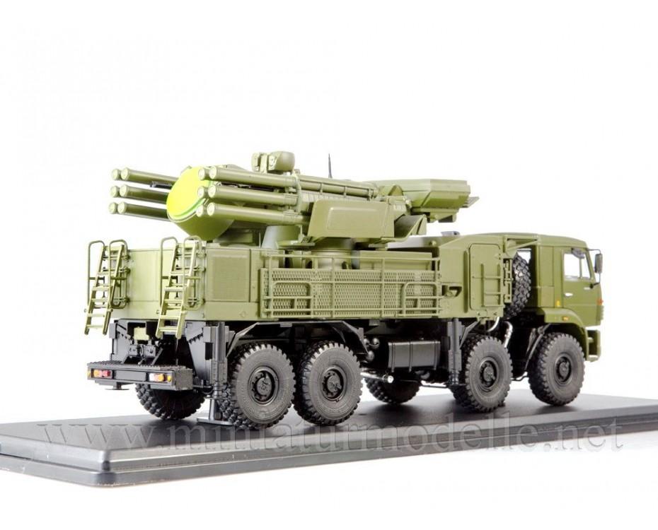 1:43 KAMAZ 6560 Pantsir S1 SA-22 Greyhound missile system, military