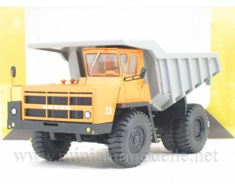 1:43 BELAZ 7522 first series quarry dump truck