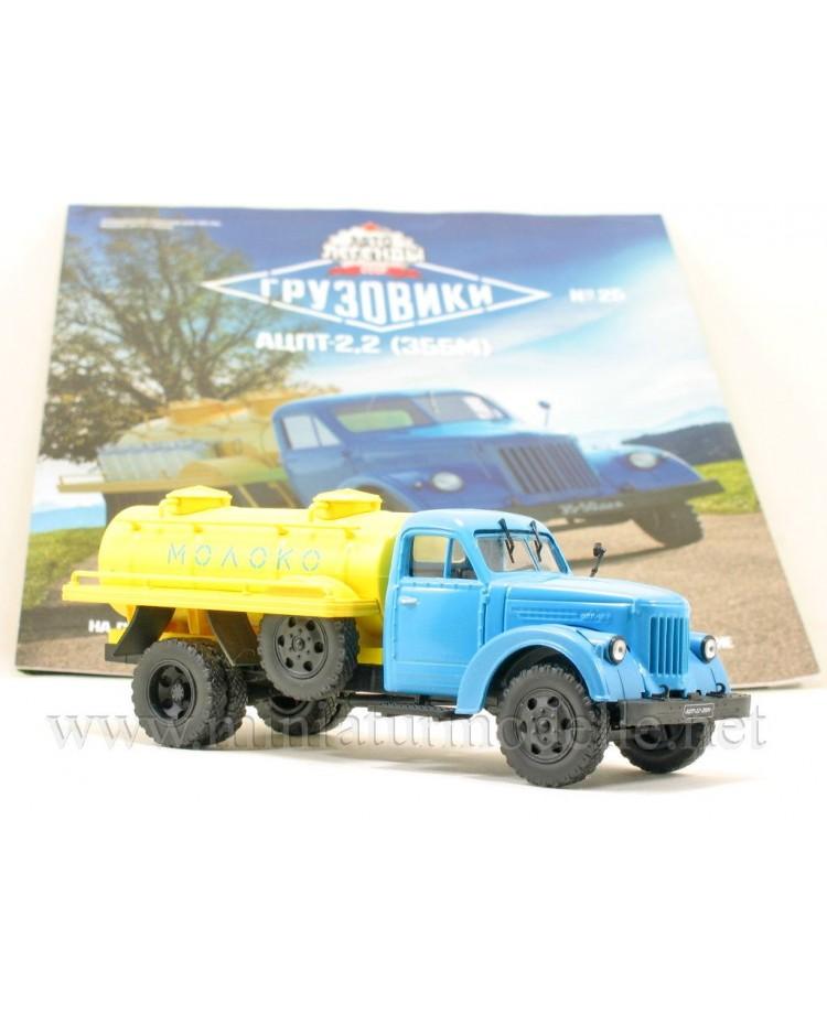 1:43 URAL-ZIS 355 M Milchtankwagen ACPT 2,2 mit Zeitschrift #25