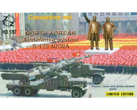 H0 1:87 Airdefense system S 125 NEVA, North Korean, conversion kit