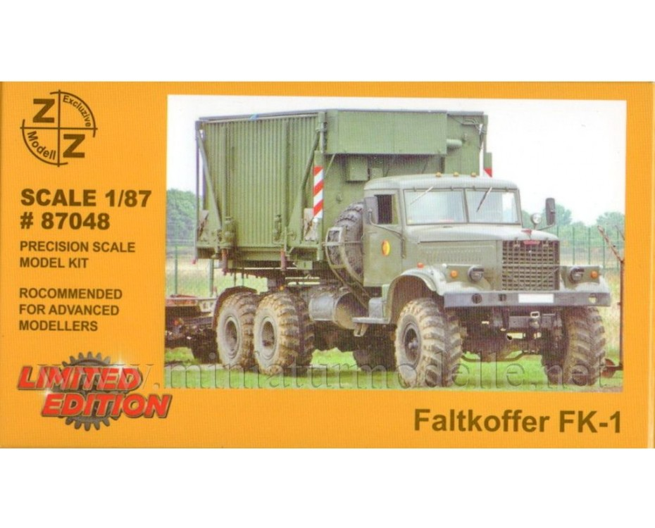 H0 1:87 Command and staff container FK 1, military