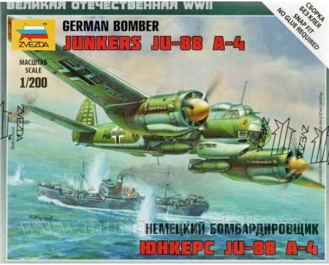 1:200 Junkers JU-88 A-4 german bomber, kit