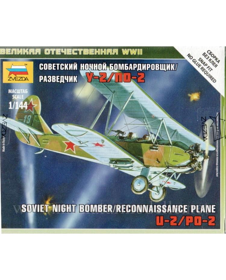 1:144 U-2 / Po-2 Sowjetischer Nachtbombenflugzeug / Aufklärungsflugzeug, Bausatz