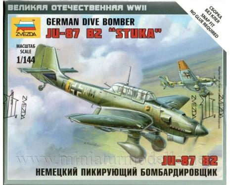 1:144 Junkers JU-87 B2 Stuka deutscher Sturzkampfflugzeug, Bausatz