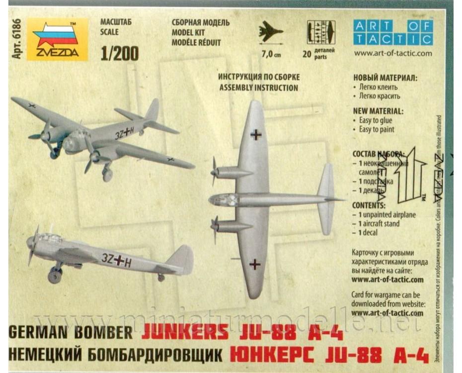 1:200 Junkers JU-88 A-4 deutsches Bomber, Bausatz