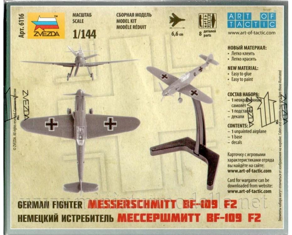 1:144 Messerschmitt BF-109 F2 deutsches Jagdflugzeug, Bausatz