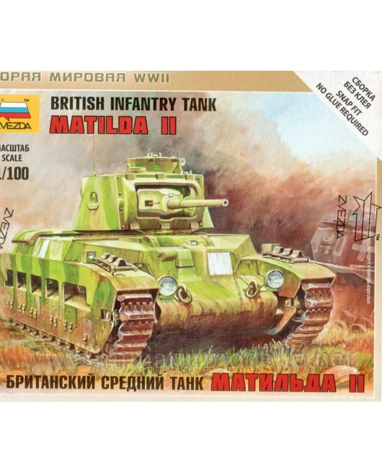 1:100 Matilda II Britischer Infanterie Panzer, Bausatz