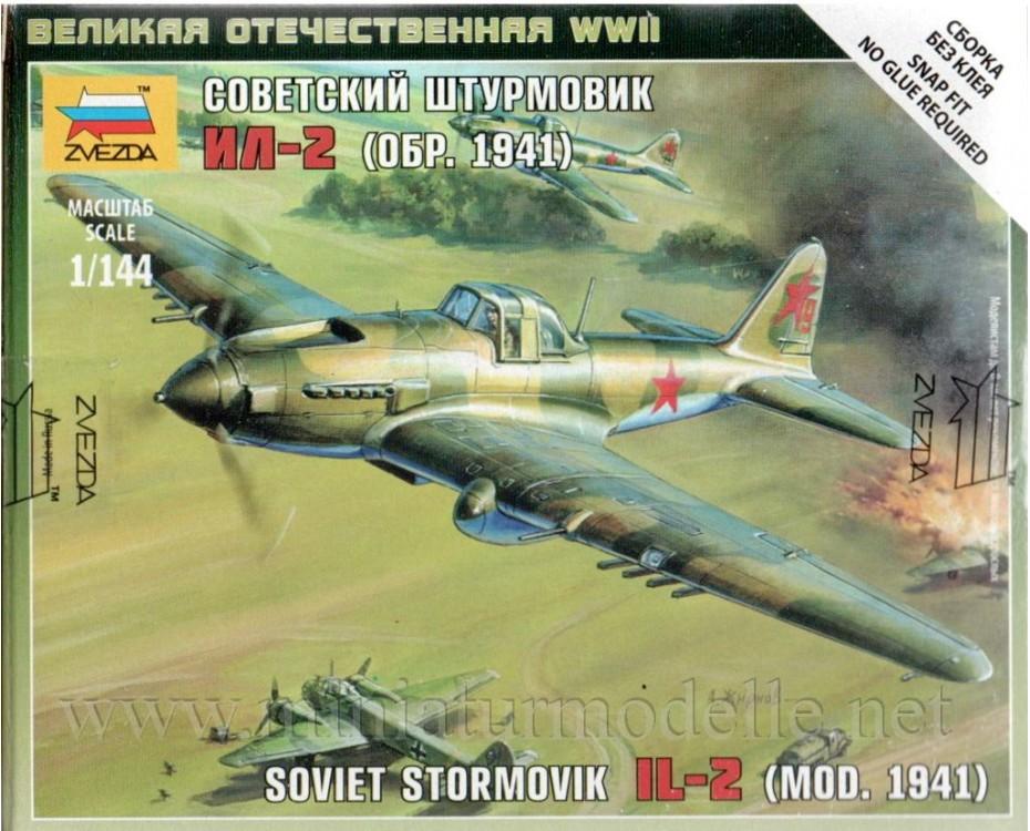 1:144 IL-2 Sowjetischer Erdkampfflugzeug (Mod. 1941), Bausatz
