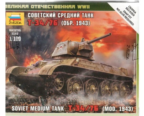 1:100 T-34/76 (mod. 1943) soviet medium tank, kit