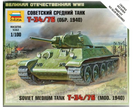 1:100 T-34/76 (mod. 1940) soviet medium tank, kit