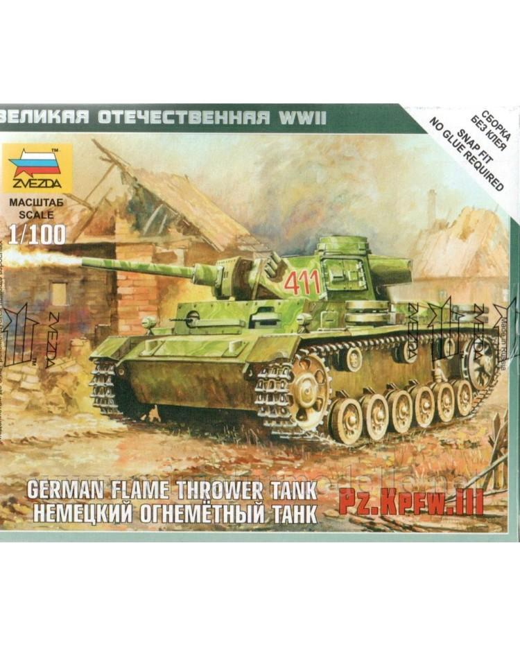 1:100 Pz.Kpfw. III deutscher Flammpanzer, Bausatz