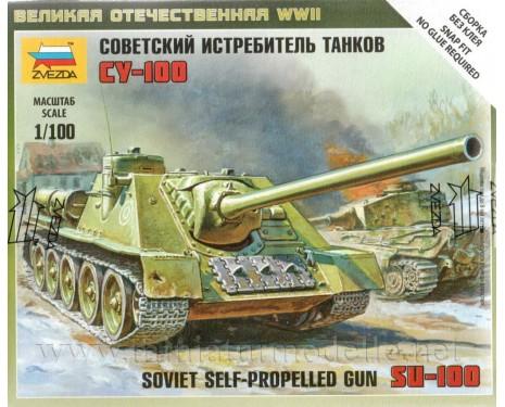 1:100 SU 100 sowjetischer Jagdpanzer, Bausatz