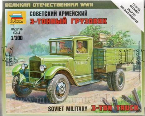 1:100 ZIS 5 sowjetischer Lastkraftwagen Militär, Bausatz