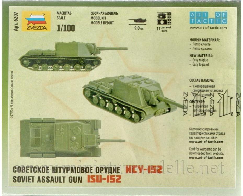 1:100 ISU 152 sowjetischer Panzerhaubitze, Bausatz