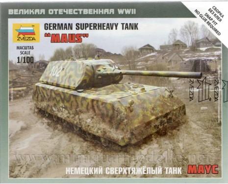 1:100 Maus German superheavy tank, kit