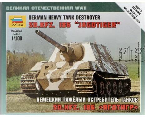 1:100 Sd.Kfz. 186 Jagdtiger deutscher schwerer Panzerjäger, Bausatz