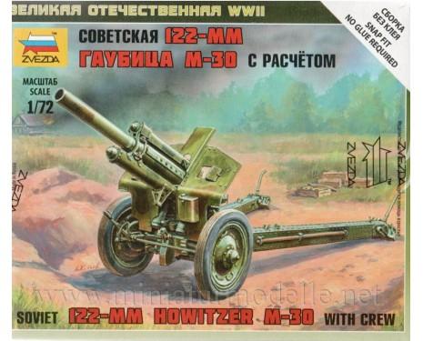 1:72 M-30 122mm soviet howitzer crew, kit