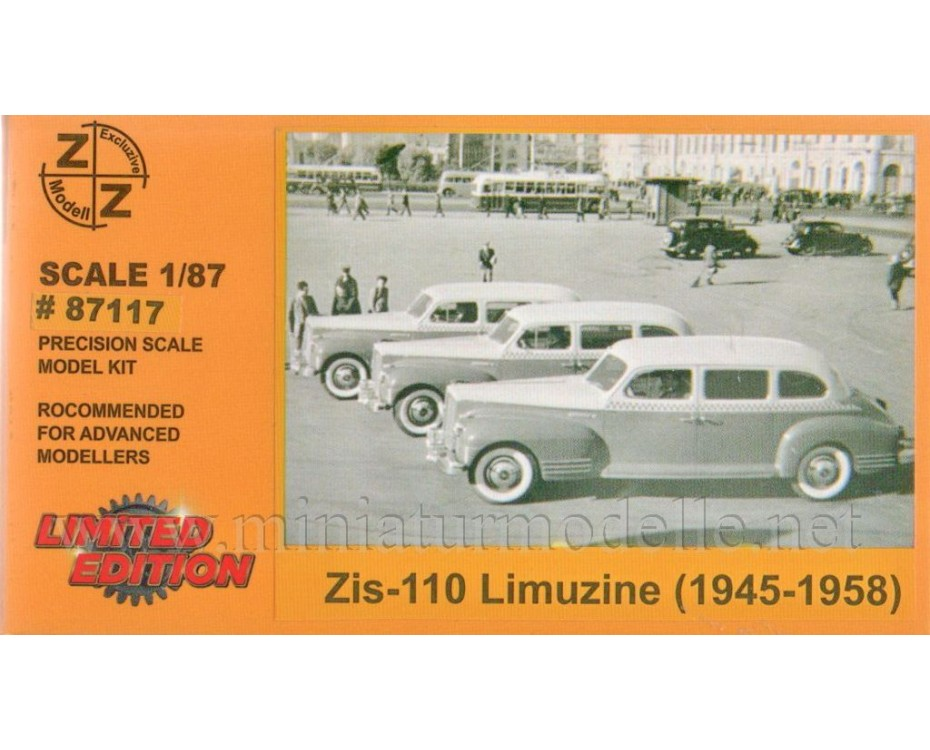 H0 1:87 ZIS-110 Limousine, small batches model kit