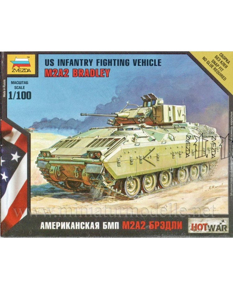 1:100 M2A2 Bradley US infantry fighting vehicle