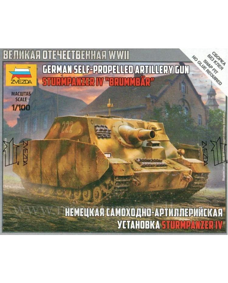 1:100 Sd.Kfz. 166 Brummbär German heavy assault gun