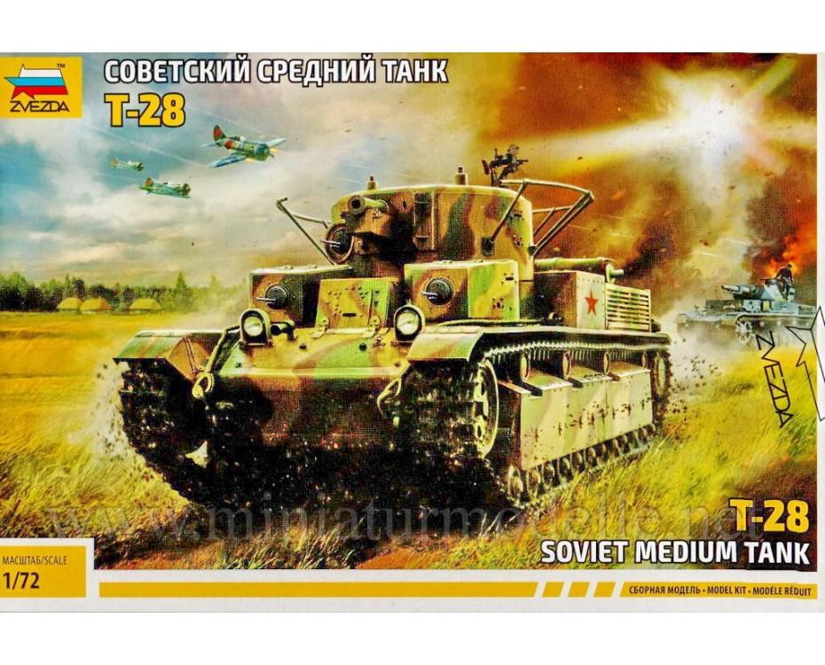 1:72 T 28 Soviet medium tank, 5064, Zvezda by www.miniaturmodelle.net