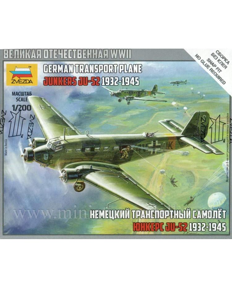 1:200 Junkers JU 52 german transport plane 1932 - 1945, Kit