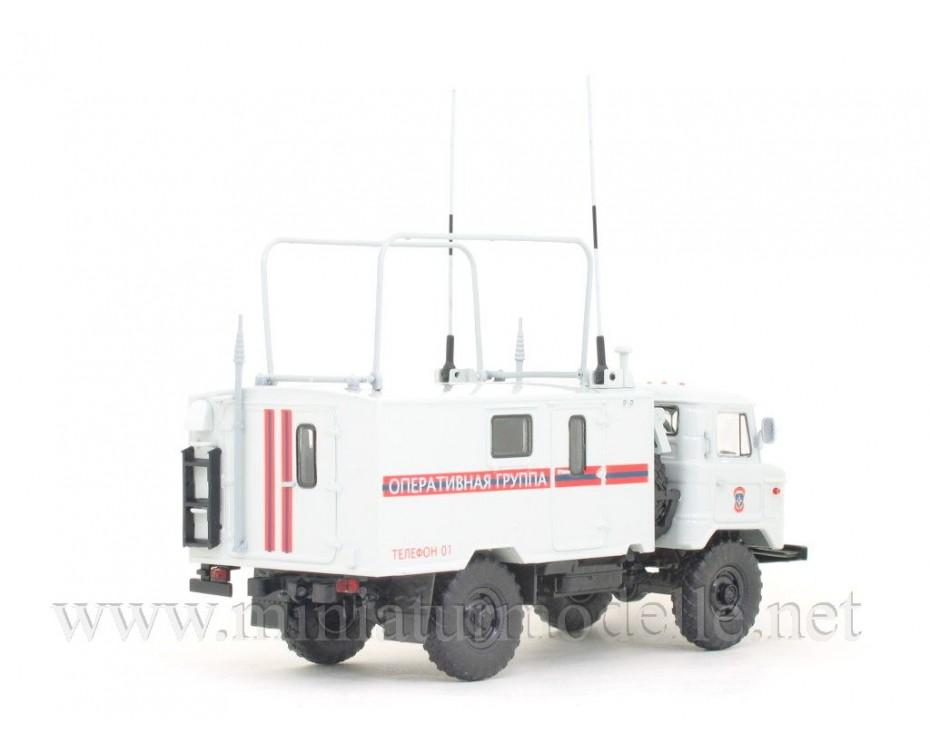 1:43 GAZ 66 Funkgerätesatz mobile Kommandozentrale KShM R 142 N, Katastrophenschutzministerium