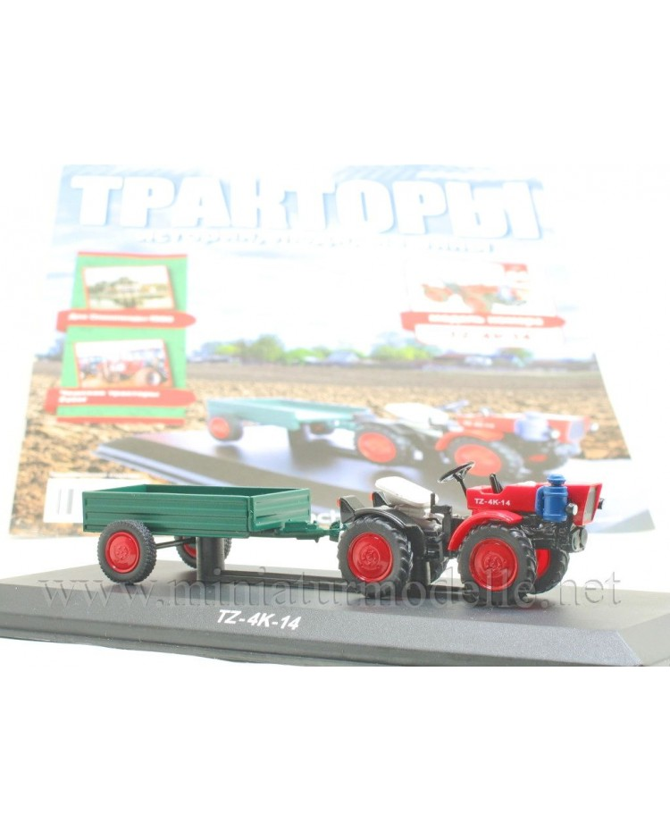 1:43 TZ 4K 14 Kleintraktor mit Anhänger und Zeitschrift #86