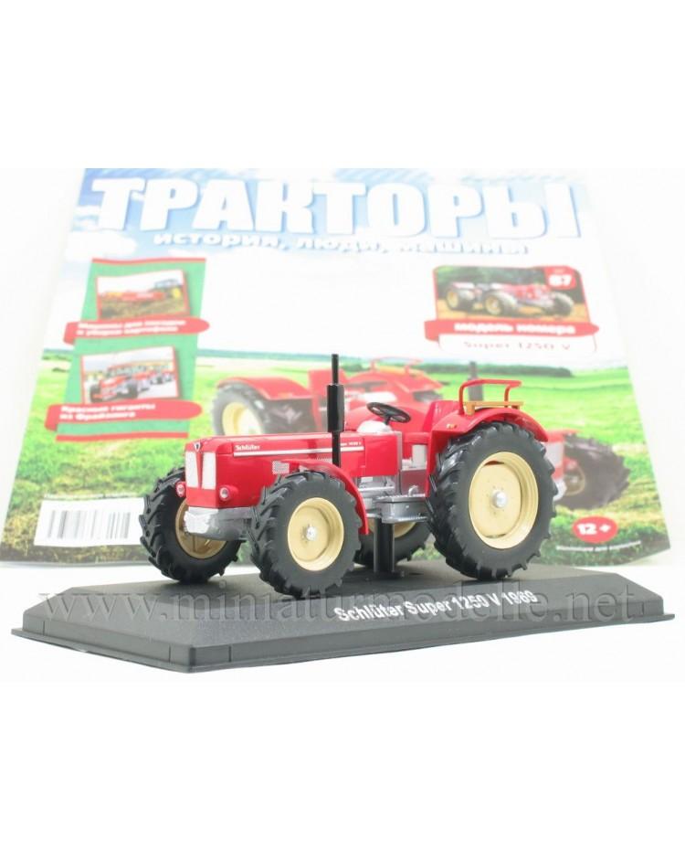 1:43 Schlüter Super 1250 V (1969) Traktor mit Zeitschrift #87