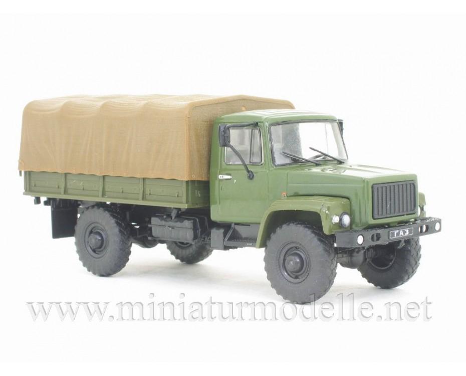 1:43 GAZ 3308 Sadko Pritsche Plane Militär mit Zeitschrift #26