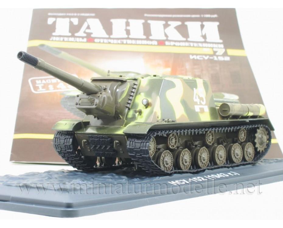 1:43 ISU 152 (1943) sowjetischer Jagdpanzer mit Zeitschrift #7
