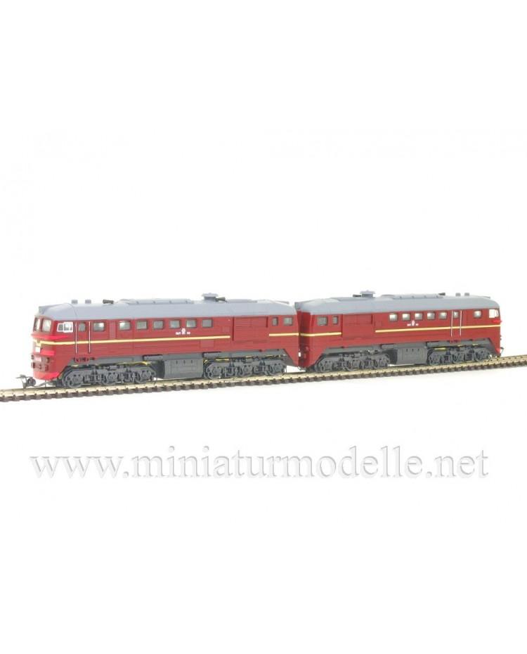 1:120 TT 1204 Doppel Diesellok 2M62, rotbraun SZD, Epoche 4, Limitierte einmalige Auflage