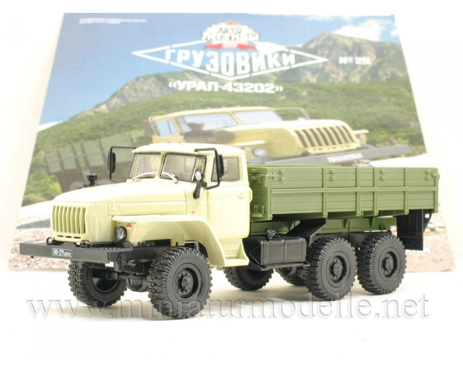 1:43 URAL 43202 load platform with magazine #29