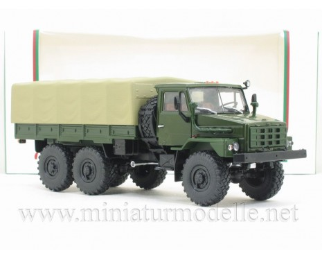 1:43 URAL 4322 flatbed truck with canvas cover, military