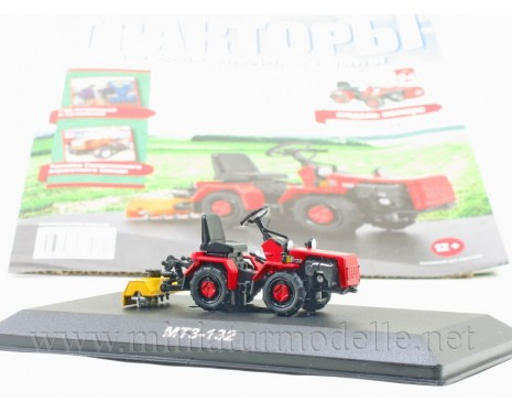 1:43 MTZ 132 Belarus mini tractor with magazine #94