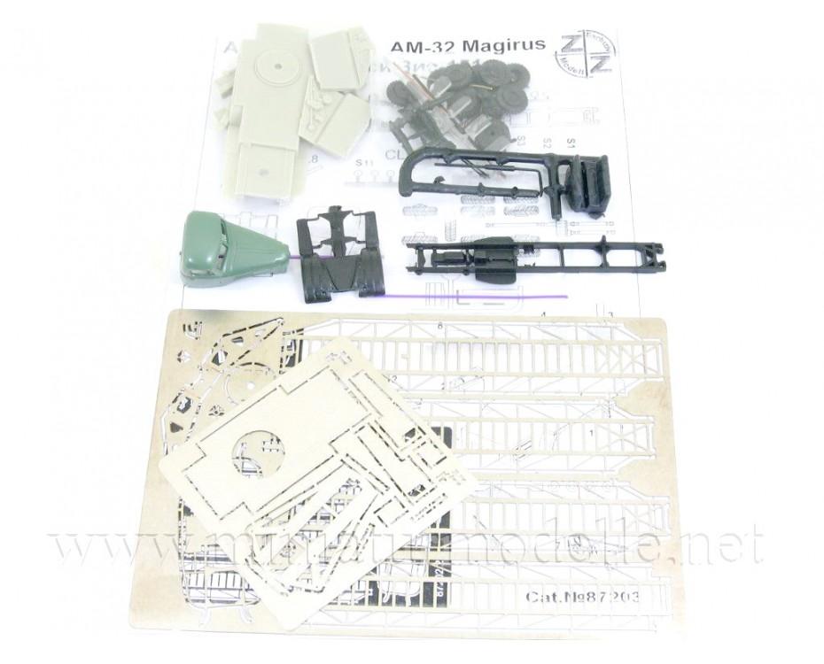 H0 1:87 ZIS 151 Drehleiter AM 32 Magirus Feuerwehr FW, Kleinserien Bausatz