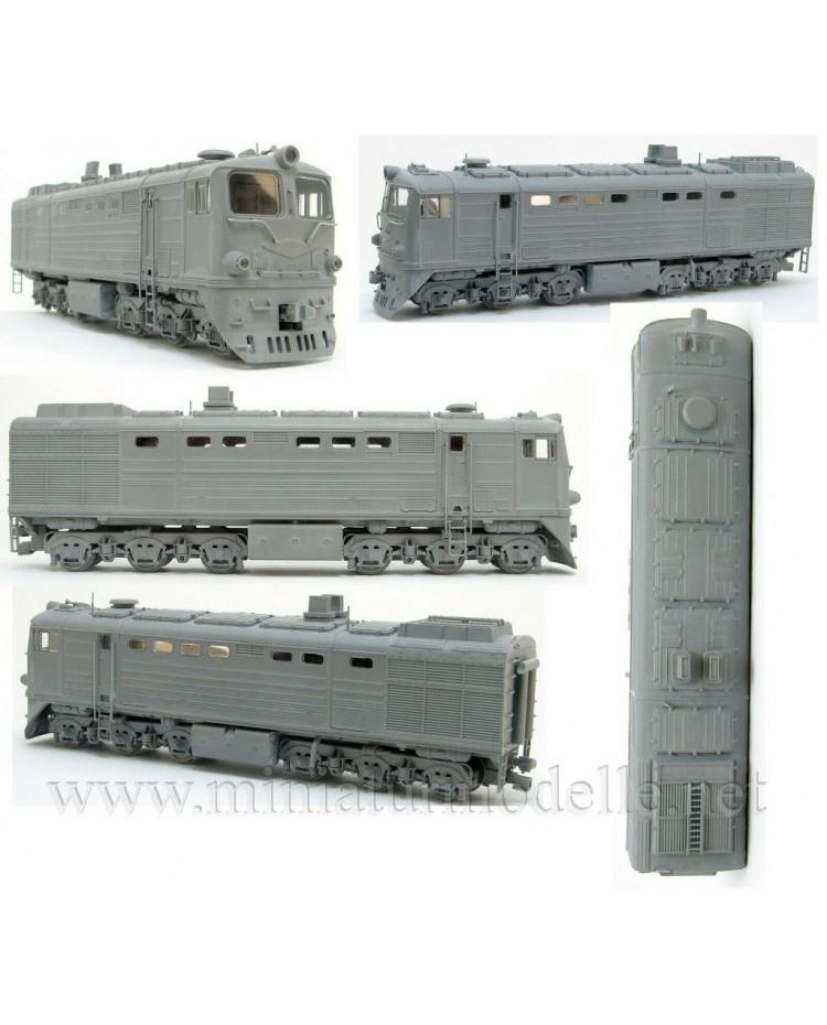 1:87 H0 2TE10L soviet two unit diesel-electric locomotive, SZD, 3-4 era, dummy small batches model kit