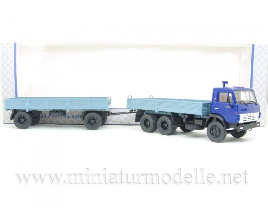 1:43 KAMAZ 5320 load platform truck and trailer GKB 8350