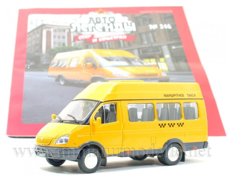 1:43 GAZ SEMAR 3234 Minibus Taxi mit Zeitschrift #246