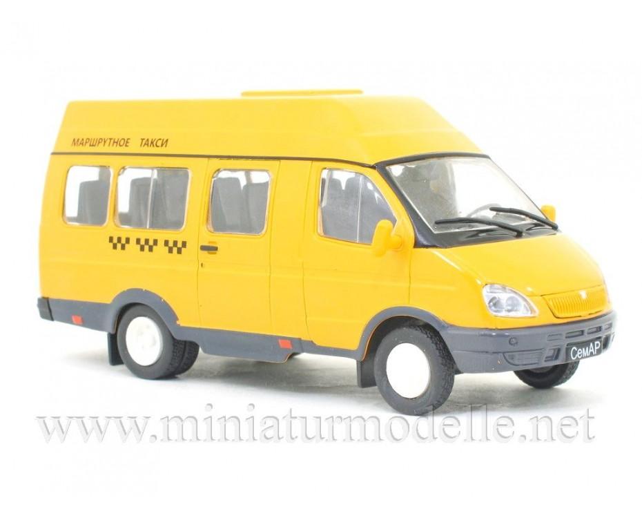 1:43 GAZ SEMAR 3234 microbus Taxi with magazine #246