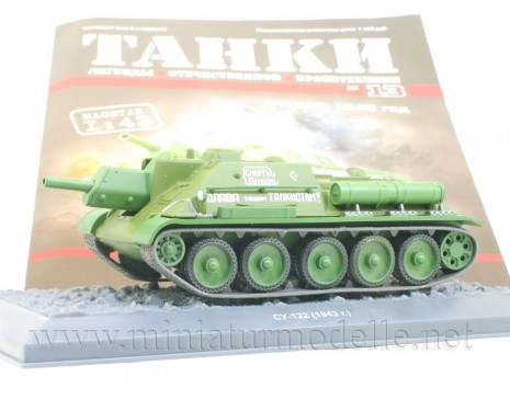 1:43 SU 122 1943 Soviet self-propelled howitzer with magazine #13