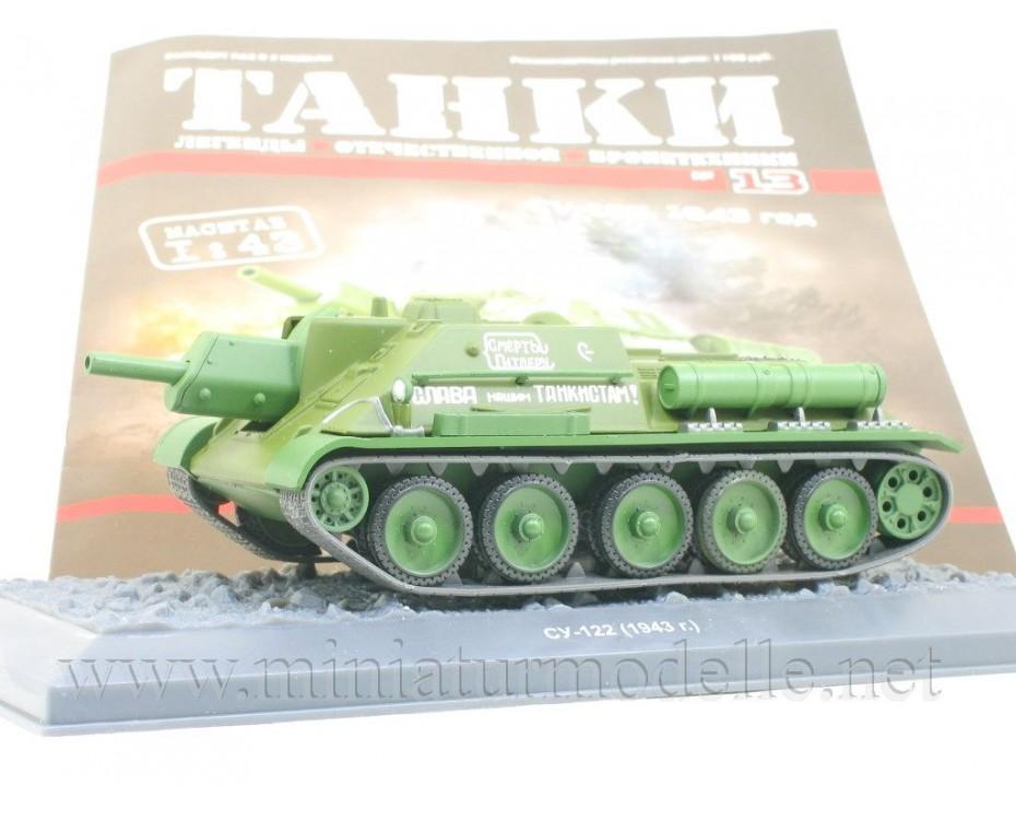 1:43 SU 122 1943 Sturmgeschütz mit Zeitschrift #13