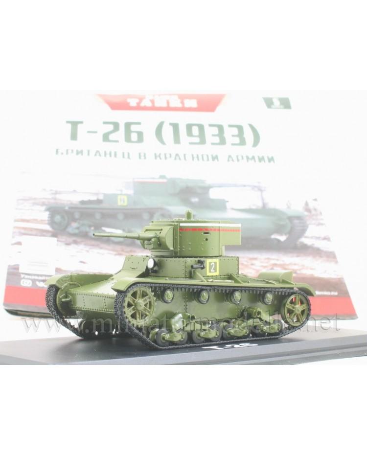 1:43 T 26 sowjetischer Panzer mit Zeitschrift #5